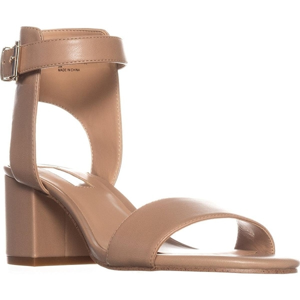 INC International Concepts I35 Hallena Block-Heel Dress Sandals - Dark Almond - 9