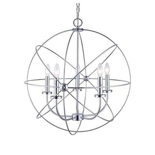"Canarm ICH282B0525 Summerside 5 Light 25"" Wide Taper Candle Globe Chandelier (3 options available)"