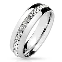 Eternity CZ Stainless Steel Dome Ring (Sold Ind.)