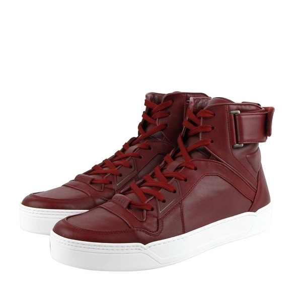 Top Strong Dark Red Leather Sneakers