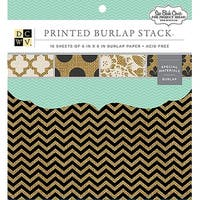 "Dcwv Single-Sided Specialty Stack 6""X6"" 16/Pkg-Printed Burlap"