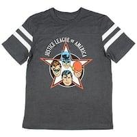 DC Comics Justice League of America Men's Charcoal T-shirt