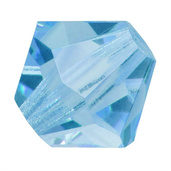 Preciosa Czech Crystal 4mm Bicone Beads 'Aquamarine' (50)