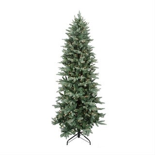7.5' Green Pre-Lit Washington Frasier Fir Slim Artificial Christmas Tree - Clear Lights