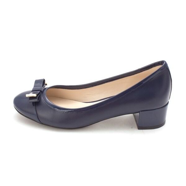 Cole Haan Womens 14A4131S Cap Toe Classic Pumps, Marine Blue, Size 6.0