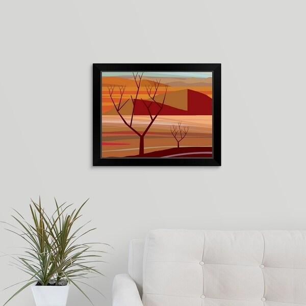 """Desert at Pinacate"" Black Framed Print"