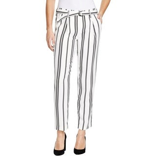 Sanctuary Womens Essential Boulevard Dress Pants Striped Pleated