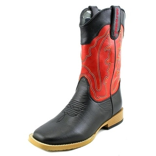 Dbl Barrel Trail Boss Youth Round Toe Leather Red Western Boot