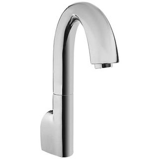 Toto TEL210GRV200 EcoFaucet Wall Mounted Electronic Gooseneck Kitchen Faucet with Pull Out Flexible Head