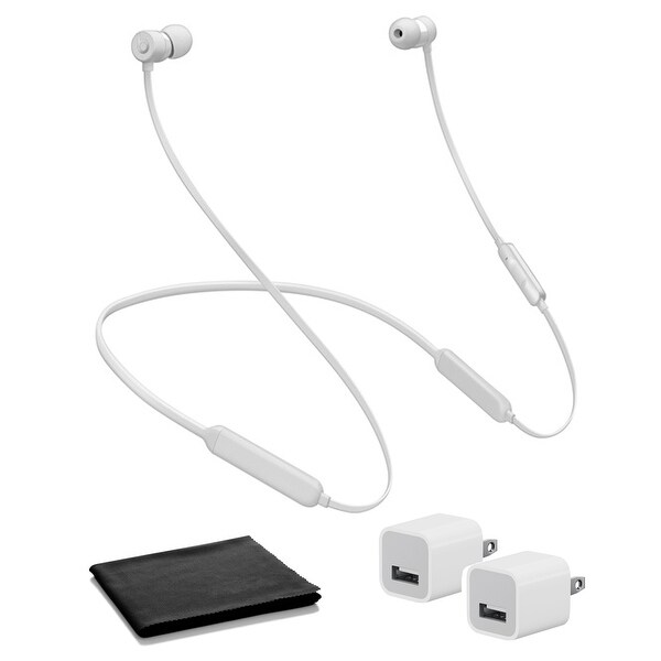 BeatsX In-Ear Bluetooth Headphones (Satin Silver / Icon) with USB. Opens flyout.