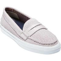 Cole Haan Women's Pinch Weekender LX Stitchlite Loafer Metallic Silver/White Leather
