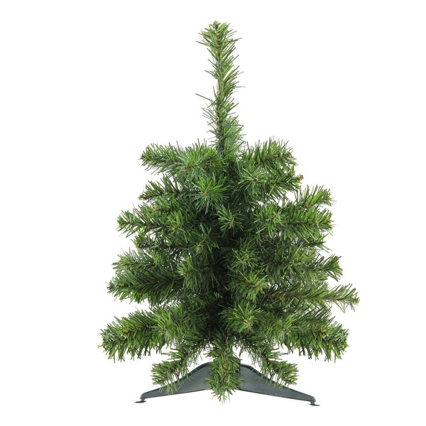 """18"""" Natural Two-Tone Pine Artificial Christmas Tree - Unlit - green"""