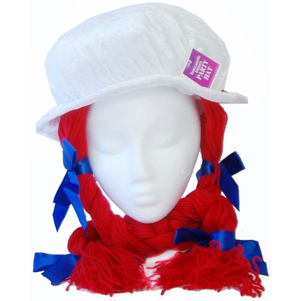 Raggedy Anne Costume Hat - White