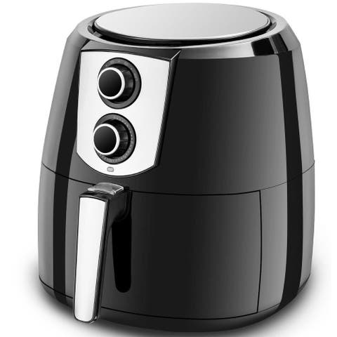 Costway Electric Air Fryer 1800W 5.5 Quart Oil Free with Timer and Temperature Control