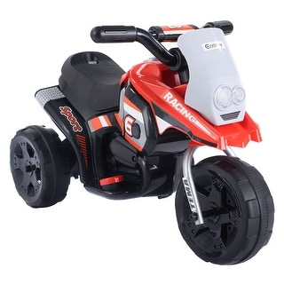 Costway 6V Kids Ride On Motorcycle Battery Powered 3 Wheel Bicyle Electric Toy
