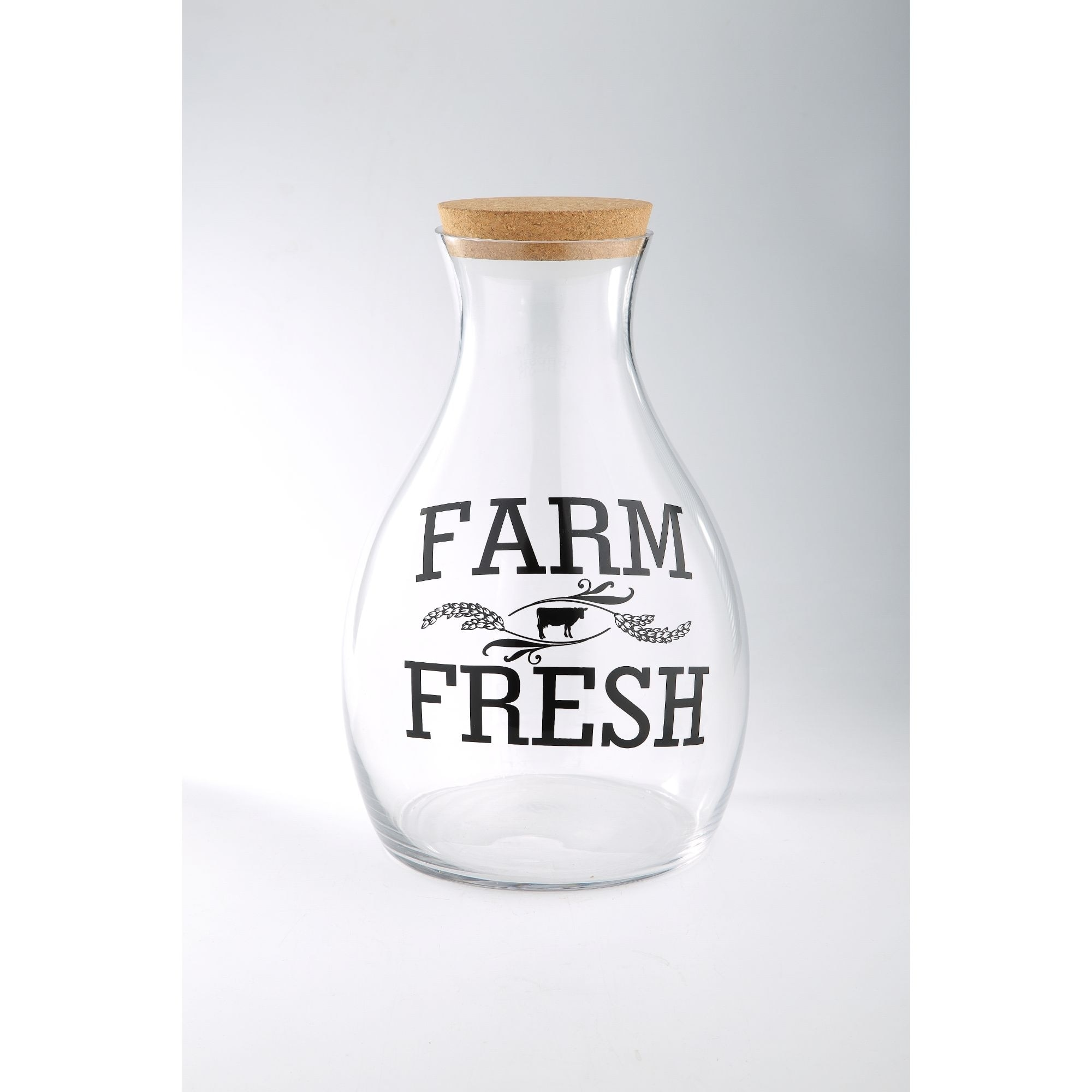 15 5 Clear And Black Hand Blown Glass Farm Fresh Bottle Vase Overstock 28683146