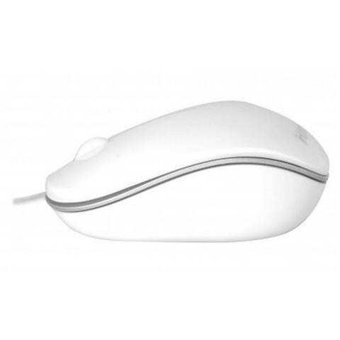 iHome IMAC-M100W Plug-N-Play Wired Mac Mouse, White
