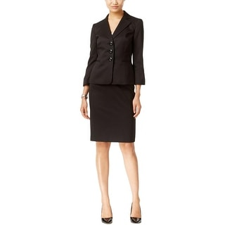 Le Suit Womens Skirt Suit Tweed Texture