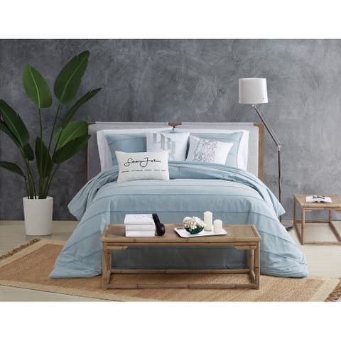 Sean John Tufted Stonewash 3 Piece Comforter Set