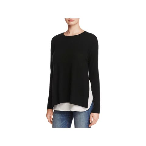 Private Label Womens Pullover Sweater Cashmere Blend Crewneck