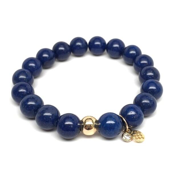 """Blue Jade Emma 7"""" Bracelet"""