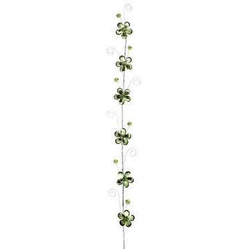 "Club Pack of 12 Olive Green Flower Artificial Christmas Garland 30"" - Unlit"