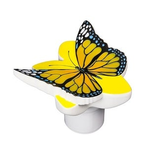 """10"""" Yellow Butterfly Swimming Pool Floating Chlorine Dispenser"""
