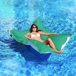 """King Kai Floating Aquamarine Oversized Pool Float 72"""" Long x 58"""" Wide - Green"""
