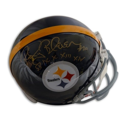 f3b7568cc5c Shop Autographed Rocky Bleier Pittsburgh Steelers Proline Throwback Helmet  Inscribed SB IX X XIII XIV - Free Shipping Today - Overstock - 13273989