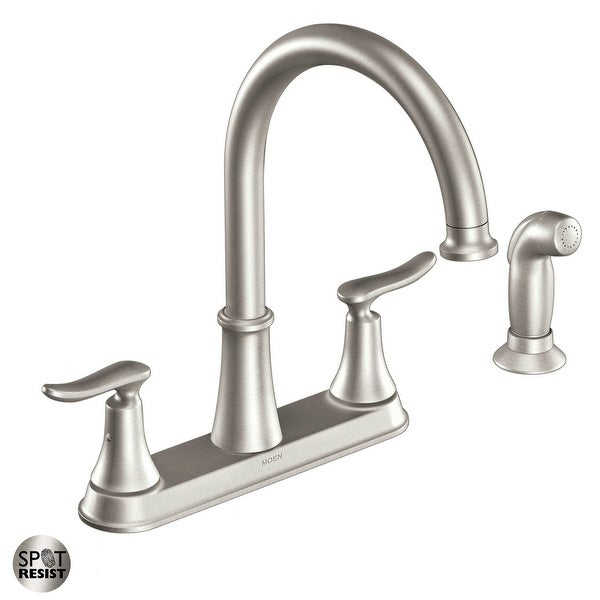 Moen CA87015 Solidad High-Arc Kitchen Faucet with Side Spray