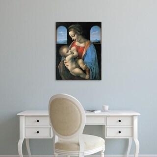 Easy Art Prints Leonardo da Vinci's 'Madonna Litta' Premium Canvas Art