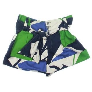 Catherine Malandrino Womens Twill Cuffed Casual Shorts - 4