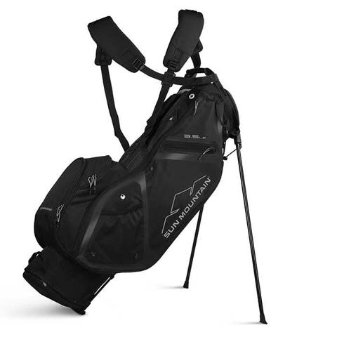 New 2020 Sun Mountain 3.5 LS Stand Bag - (Black) - Black