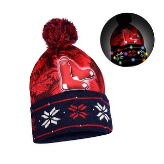 MLB Light Up Big Logo Beanies Boston Red Sox