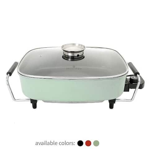 Paula Deen 15-inch Large Electric Skillet with Glass Basting Lid