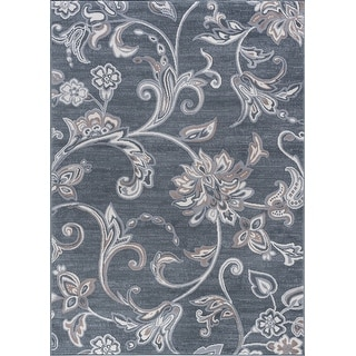 Link to Alise Rugs Carrington Transitional Floral Area Rug Similar Items in Transitional Rugs