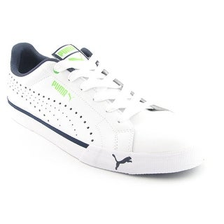 Puma Game Point Lace Men Round Toe Leather White Tennis Shoe