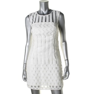 Milly Womens Lace Sleeveless Cocktail Dress - 4
