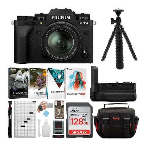 Fujifilm X-T4 Mirrorless Camera with XF 18-55mm Lens and Accessory Kit