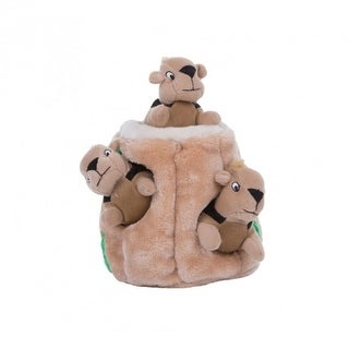 Outward Hound 31011 Hide-A-Squirrel with 3-Squirrels Dog Toy, Large