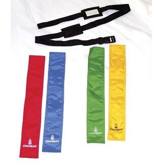 OMNIKIN High-Quality Flag Belts, Set of 4, Green