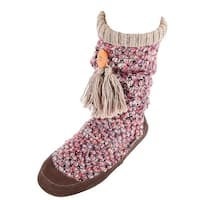 Acorn Women's Indoor Outdoor Jam Tassel Boot Slipper