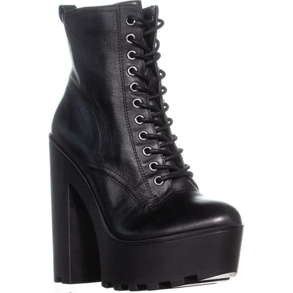 4833bd42124 Shop Steve Madden Globaal Lace-up Platform Ankle Boots, Black ...