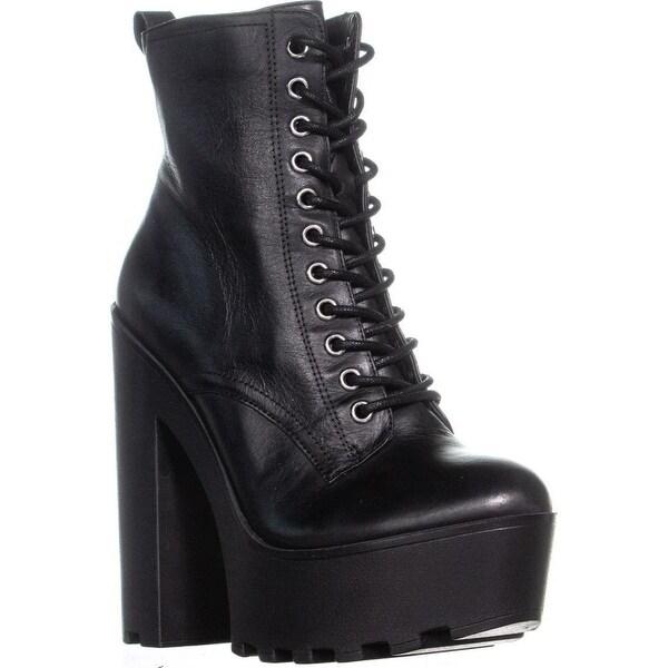 fc1e10d5e39 Shop Steve Madden Globaal Lace-up Platform Ankle Boots, Black ...