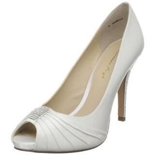 Brianna Leigh Womens Isabella Evening Heels Silk Peep-Toe