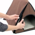 FrontPet 40 Watt Canvas Heated A-Frame Cat House for Outdoor & Indoor Cats.Perfect Cat House for Keeping Newborn Kittens Warm! - Thumbnail 4