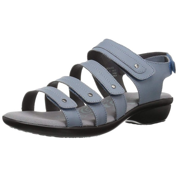 Propét Womens aurora Fabric Open Toe Casual Slingback Sandals