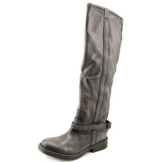 Steve Madden Maddock Women Round Toe Leather Knee High Boot