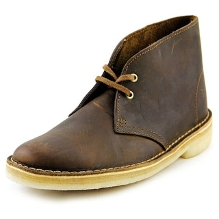 Clarks Narrative Desert Boot Men  Round Toe Leather Brown Desert Boot