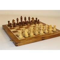 14 in. Folding Wood Chess Set by Chopra
